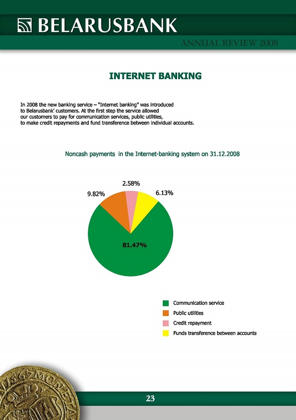 internet banking in 2008