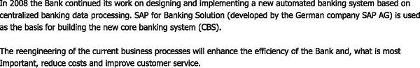 Review 2008 of Belarusbank