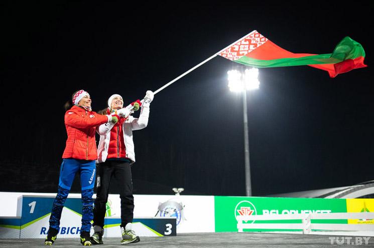 Дарья Домрачева и Надежда Скардино