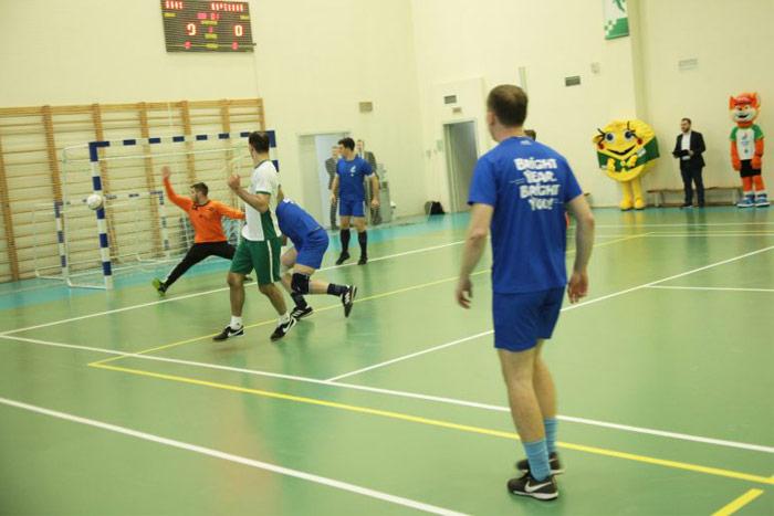 мини-футбол в здании Беларусбанка